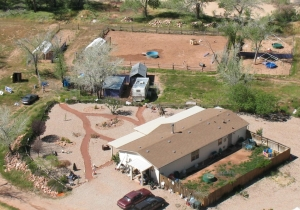 Aerial view of Doggy Dude Ranch