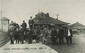 Clare Train depot during railroad era