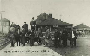 Clare Train depot during railroad era