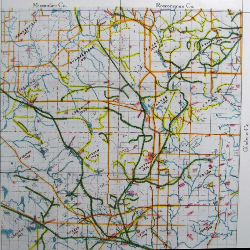 Clare County Plat Map on