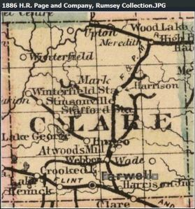 Clare County map