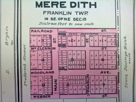 Plat map of Meredith from about 1906