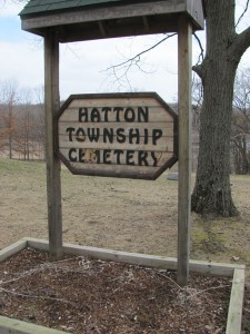 Hatton Cemetery sign
