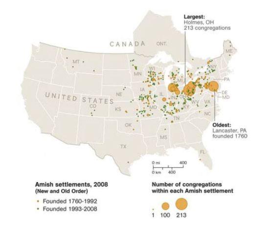 Amish map