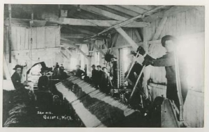Cory's sawmill might have looked something like the sawmill in this photo from the Harrison Public Library collection.